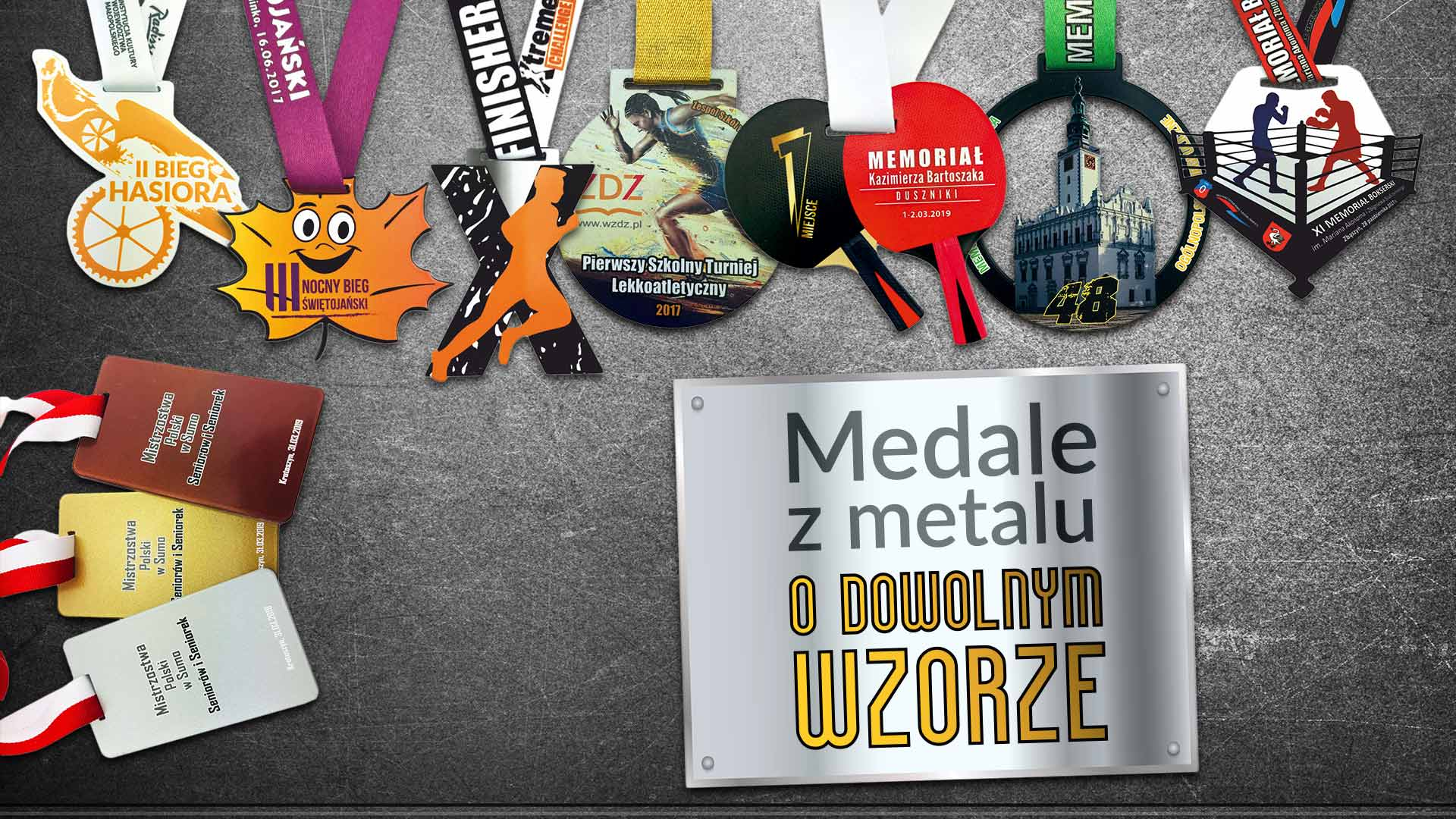 medale z metalu